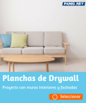 PLANCHAS DRYWALL PANEL REY